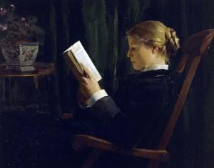 "Alber Anker, ""La liseuse"", 1882-1883"