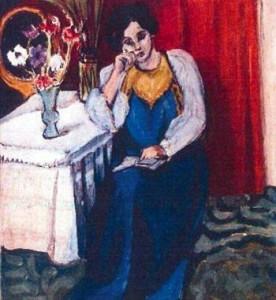 Henry Matisse, La lettrice in bianco e giallo,1919