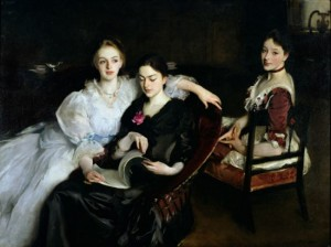 John Singer Sargent, The Misses Vickers crop