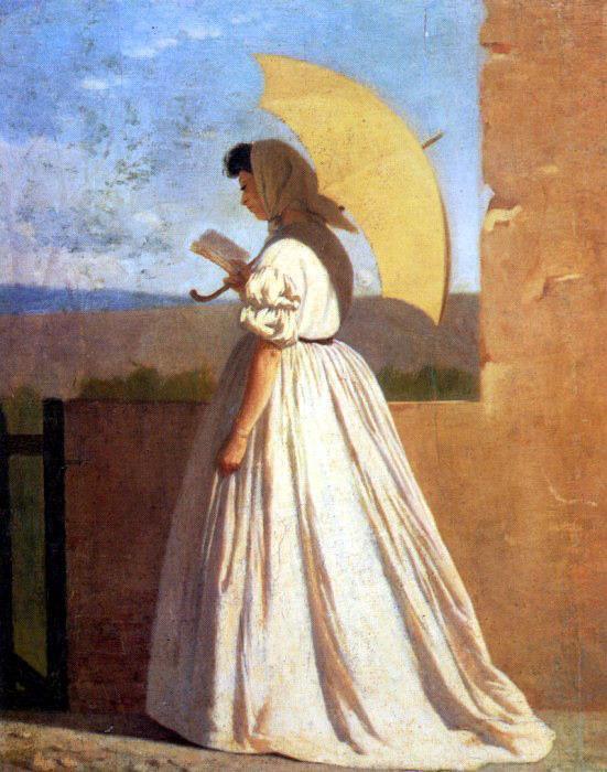Federico Zandomeneghi, La lettrice, 1865