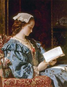 Wyburd Francis John, Portrait of a Girl in Green reading