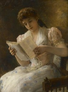 William Oliver, Portrait of a lady reading a book
