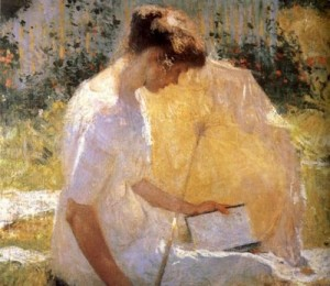 Frank Weston Benson, The reader