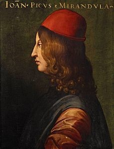 Giovanni Pico della Mirandola, Galleria degli Uffizi
