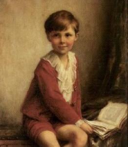Herbert James Draper, Bambino che legge01