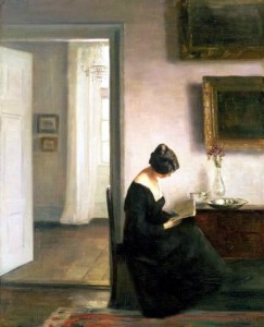 Holsoe - Carl Vilhelm Holsoe (1863-1935), Woman reading