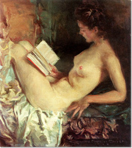 Howard Chandler, Nude woman reading