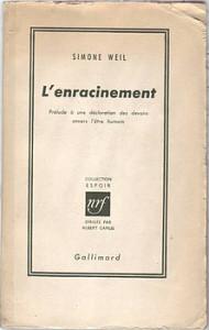 L'enracinement,_Simone_Weil,_Gallimard