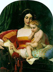 L'infanzia di Pico della Mirandola, di Paul Delaroche, 1842, Museo delle belle arti di Nantes (Francia)