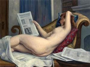 Naked Woman Reading. Leon Kroll (1884-1974)