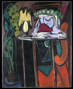 Pablo Picasso, Ragazza legge al tavolo,1934