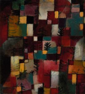 Paul Klee, Ritmi rosso, verde e viola giallo, 1920