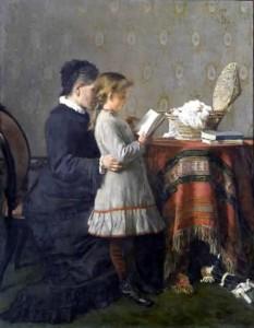 Silvestro Lega, La lezione della nonna, 1881