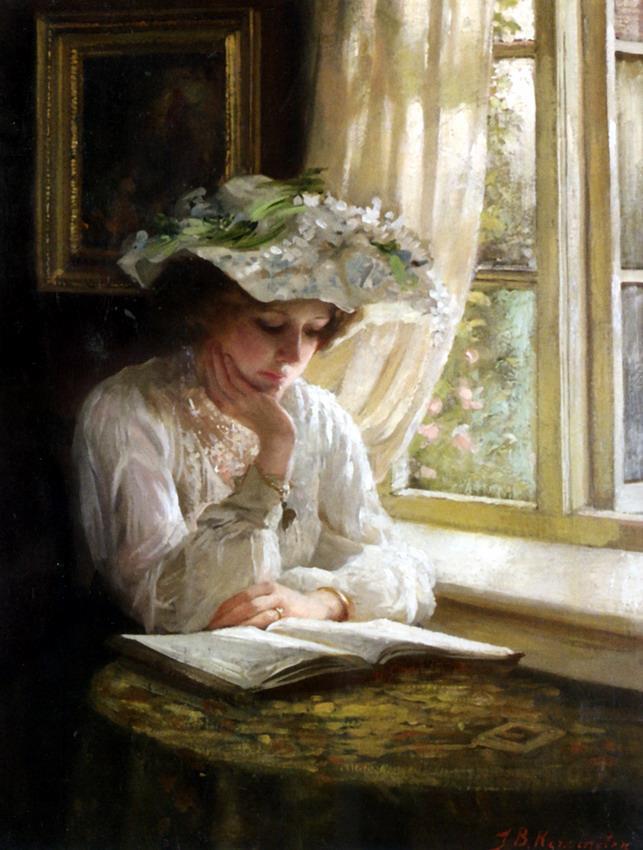 Benjamin T. Kenninghton, Lady reading by a Window