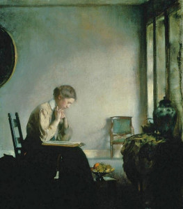 Edmund Tarbell, Girl Reading 1909
