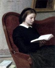 Henri Fantin Latour, Donna che legge