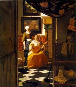 Jan Vermeer, La lettre damour,1669-16701