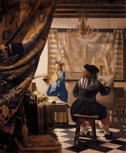 Jan Vermeer, The Artist's Studio, c.1665-66