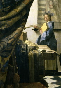 Jan Vermeert, The Artist's Studio, c.1665-6, part