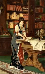 Jean Baptiste Charpentier II, Signora in biblioteca
