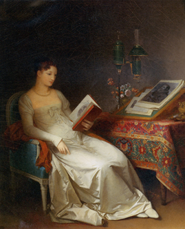 Marguerite Gérard. Lady Reading in an Interior.