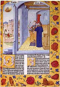Pagina del De consolatione philosophiae da un'edizione quattrocentesca