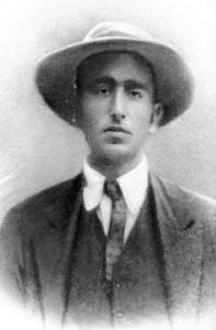 Carlo Michelstaedter in una delle ultime fotografie, 1910