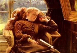 Jacques-Joseph Tissot, Kathleen Newton In An Armchair