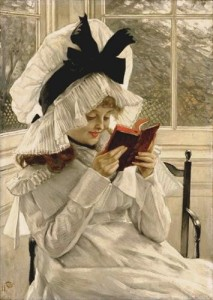 Jacques-Joseph Tissot, Reading a Book, 1872