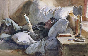 John Singer Sargent, Man reading,1910