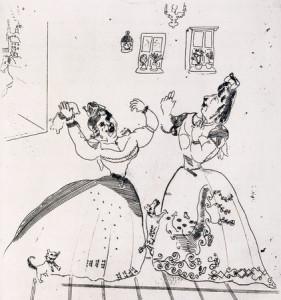 Marc Chagall, Donne simpatiche da tutti i punti di vista, da Le anime morte