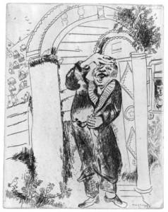 Marc Chagall, Manilov, da Le anime morte02.jpg