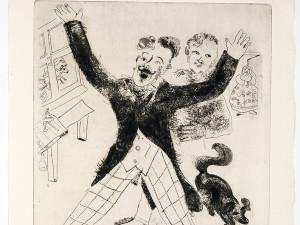 Marc Chagall, Nozdriòv, da Le anime morte