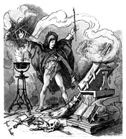 Illustrazione di Ferdinand Barth dall'edizione di Der Zauberlehrling di Goethe del 1882
