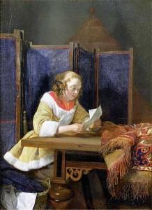 Gerard ter Borch, Signora che legge una lettera