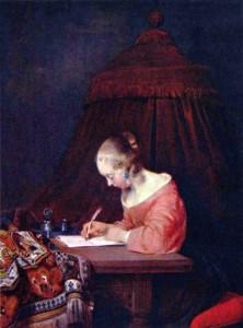 Gerard ter Borch, Signora che scrive una lettera