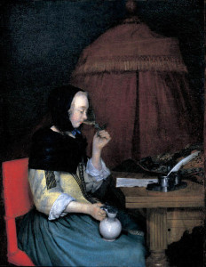 Gerard ter Borch, Woman with Wineglas
