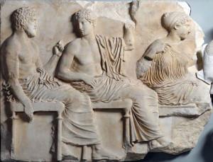 Processione panatenaica, blocco VI, rilievo del fregio est del Partenone (Museo dell'Acropoli di Atene) - Fidia (bottega) - 442-438 a.C.