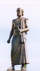 Statua in onore di Aristarco di Samo nell'università dedicata ad Aristotele a Thessaloniki in Grecia