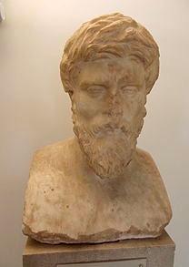 Busto di Plutarco, oggi conservato al museo archeologico di Delfi.