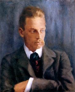 Rilke nel 1901, ritratto da Helmuth Westhoff.
