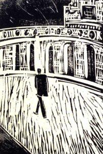 03 Mia camminata, 2001. Linoleografia