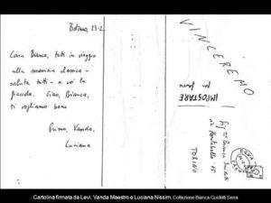 Cartolina Di P. Levi dal treno per auschwitz
