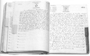 Ultima pagina del Diario di Guevara in Bolivia