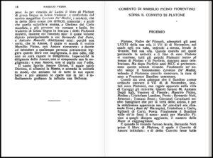 Commento di Marsilio Ficino fiorentino sopra il Convito di Platone