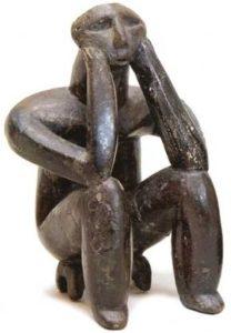 Il Pensatore di Crnavoda. Cultura di Hamangia, 500-4600 aC, Bucarest, Museo Nazionale di Storia della Romania
