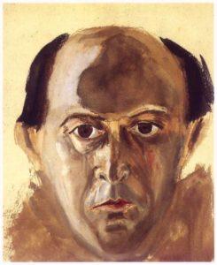 Arnold Schönberg, Autoritratto, 1910