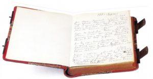 Uno dei diari del compositore, quello del 1887, dove egli annotava una quantità di fatti intimi.