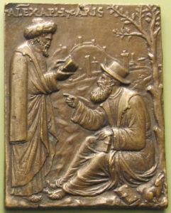 Alessandro di Afrodisia, placchetta del XVI secolo, Bode-Museum