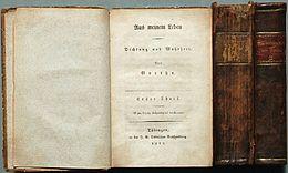 Aus meinem Leben. Dichtung und Wahrheit, 1811